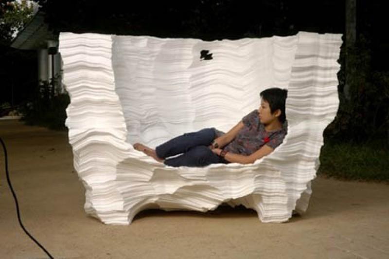 Кресло своими руками из пенопласта